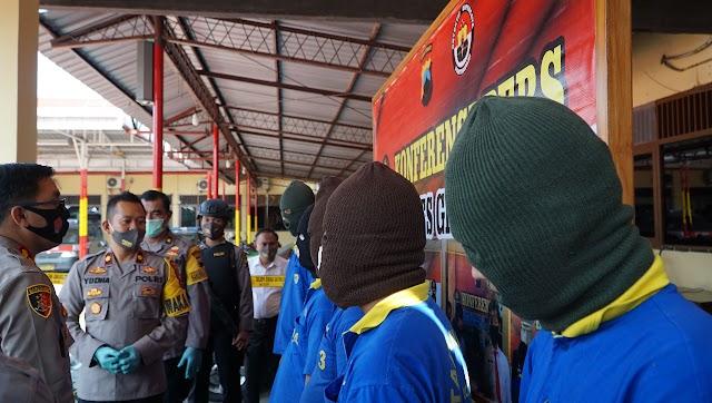 Polres Grobogan Amankan Puluhan Pelaku Pencurian Dalam Ops Sikat Jaran Candi 2020