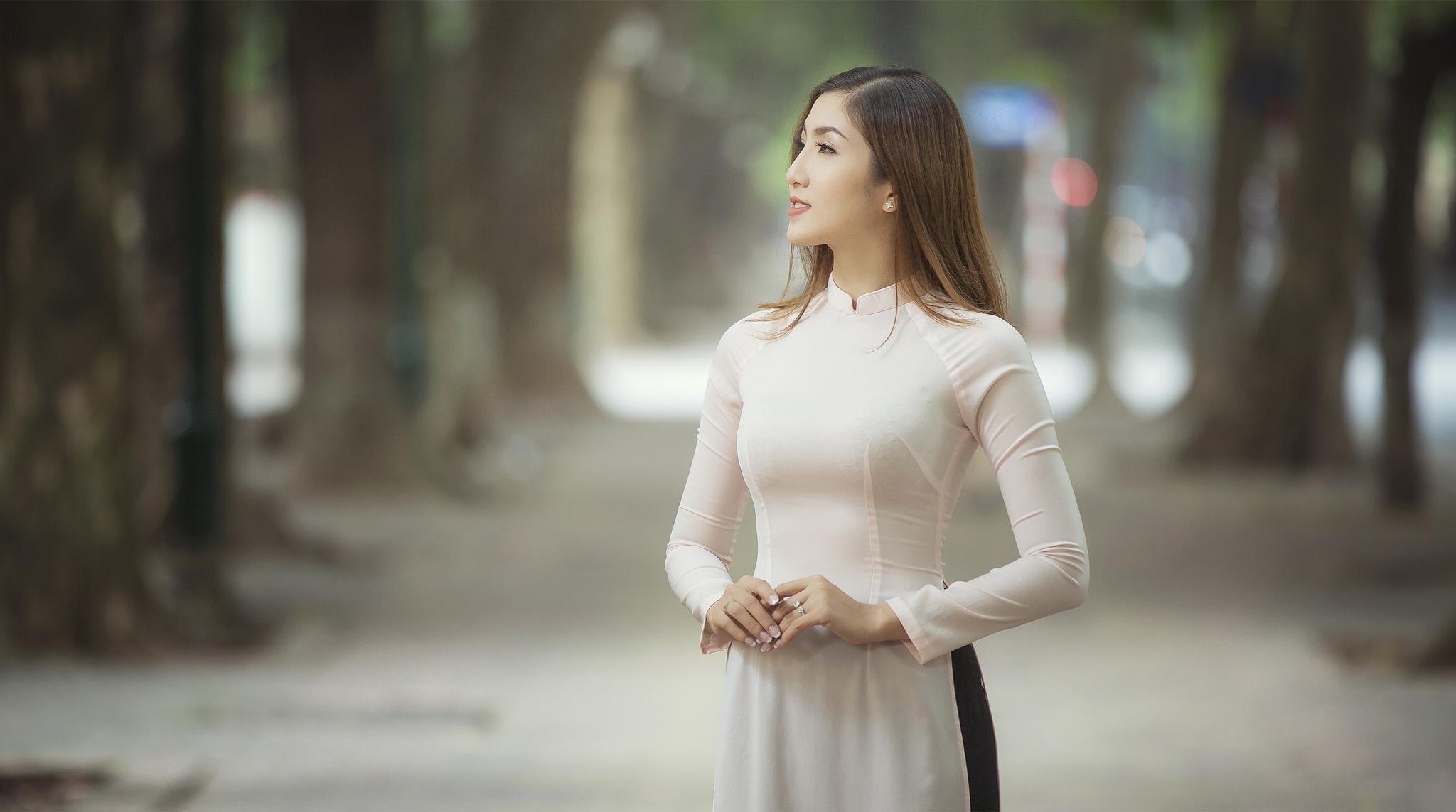 Tuyển tập girl xinh gái đẹp Việt Nam mặc áo dài đẹp mê hồn #60 - 23