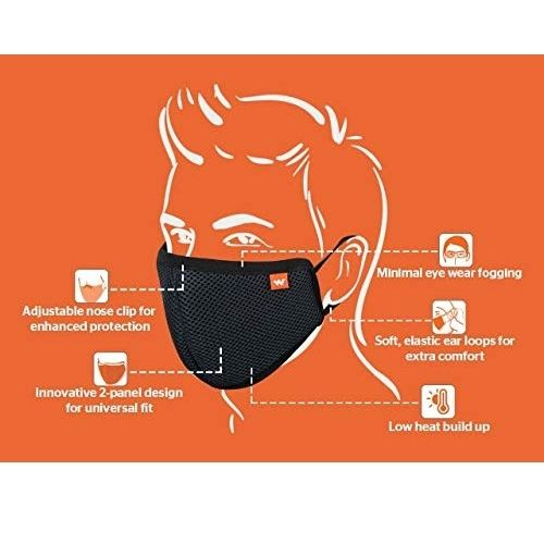 Wildcraft Reusable 6-Layer Anti-Pollution Mask