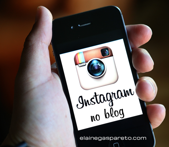como colocar as fotos do instagram no blog