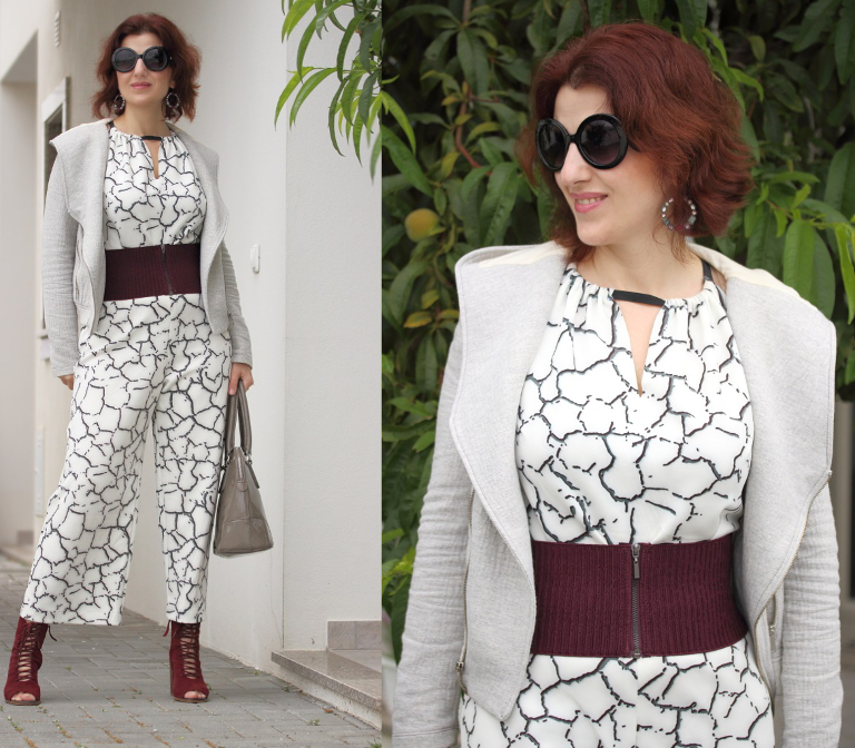 Cockerels Are Scattered All Over This Fabric Made From: Tany Et La Mode: Scattered Print Jumpsuit (self-made