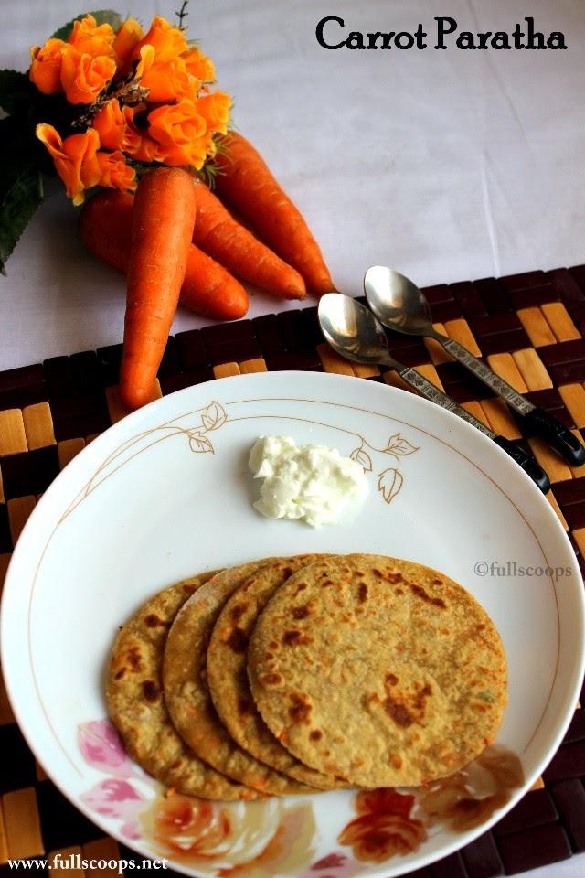 Carrot Paratha