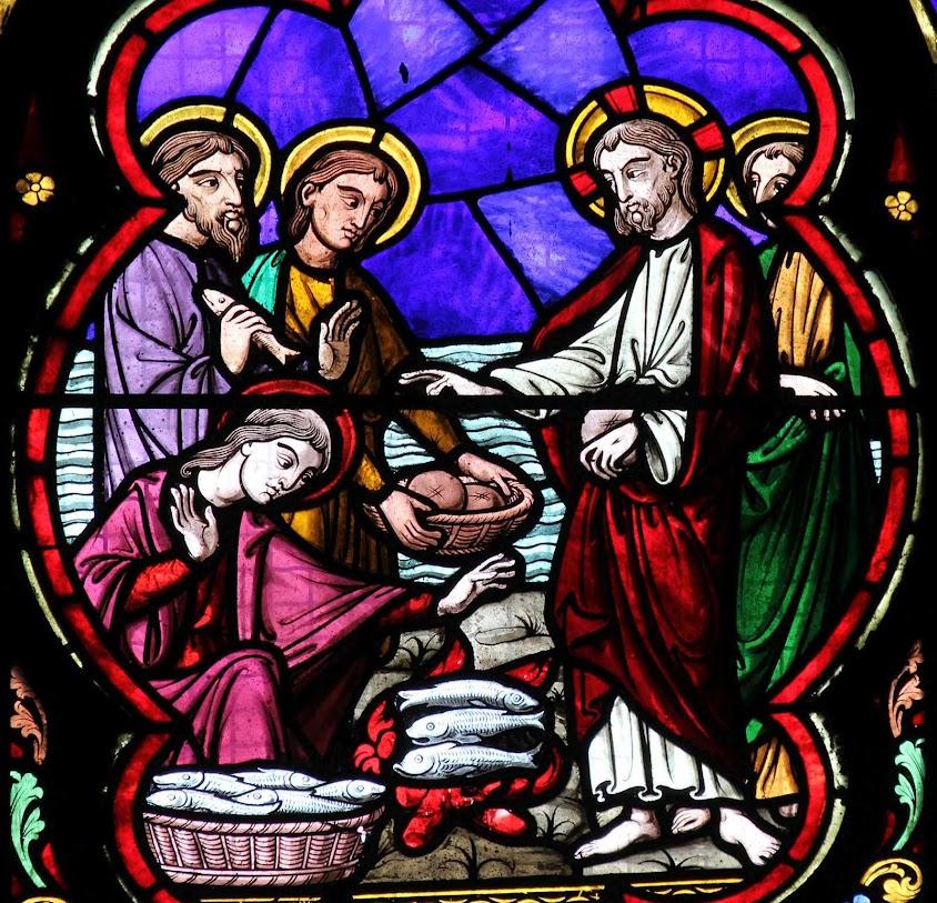 Multiplicação dos pães e peixes, catedral de Lille, França