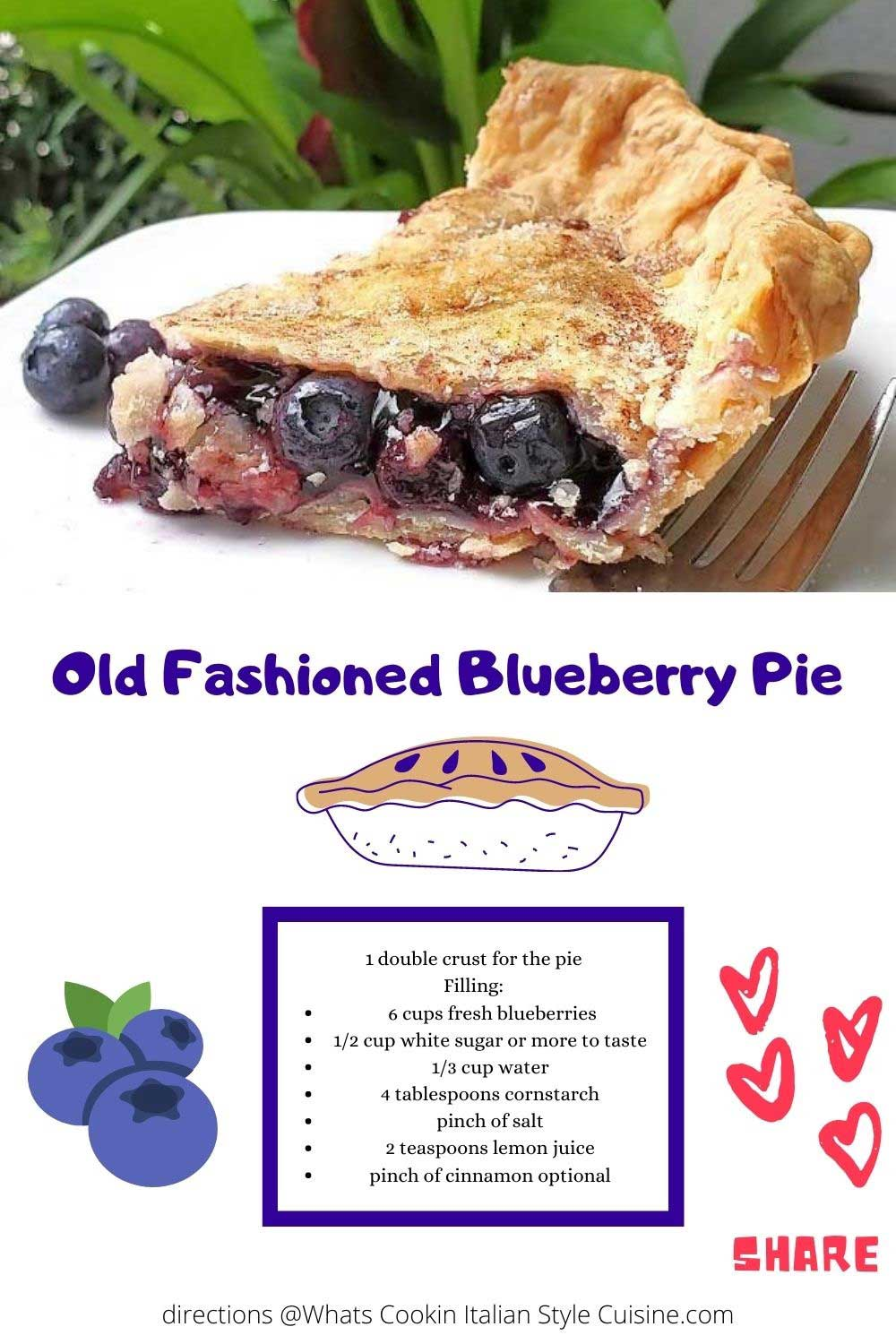 this is a pin for later how to make blueberry pie