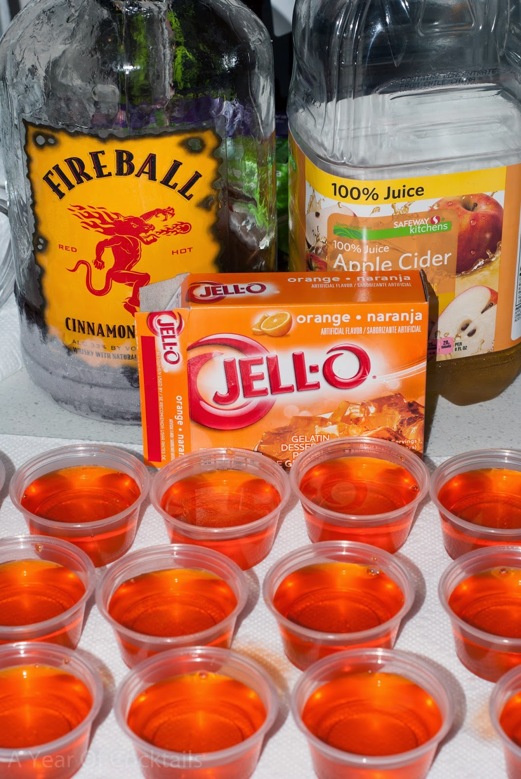 jello shots, jello, halloween, halloween jello shots, fireball jello shots