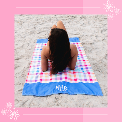 Personalized Beach Towel from Marleylilly.com