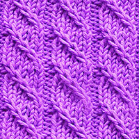 Twisted stitches - Spiral Columns pattern, no cable needle is required.