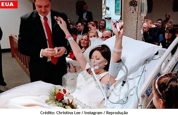 Mulher com câncer de mama morre um dia após se casar em leito de hospital