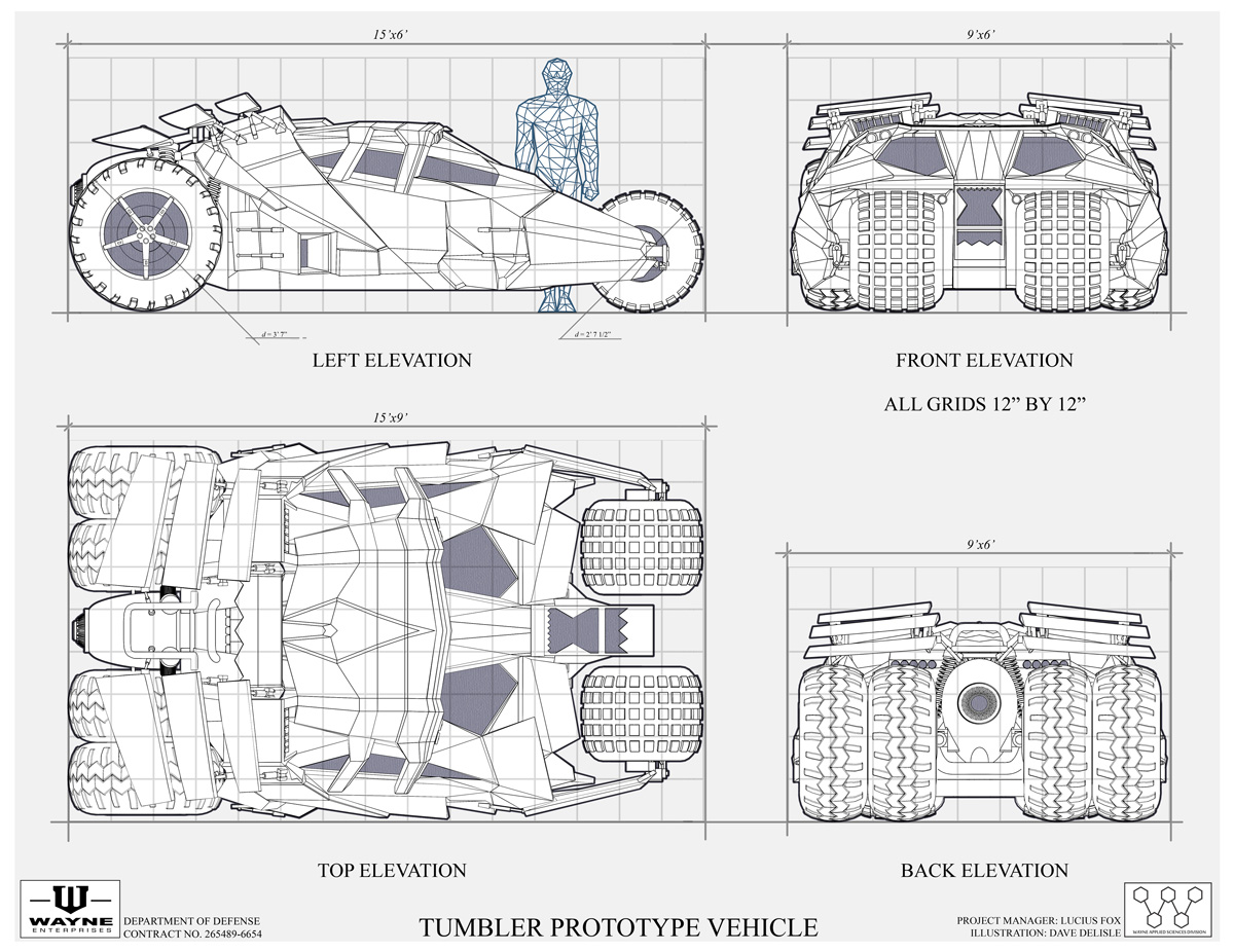Batmobile The Tumbler Blueprints And Specification