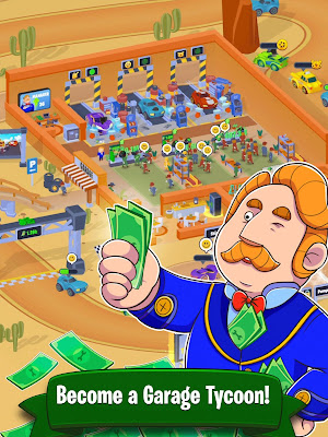 GARAGE EMPIRE IDLE BUILDING TYCOON & RACING (MOD, UNLIMITED MONEY) APK DOWNLOAD