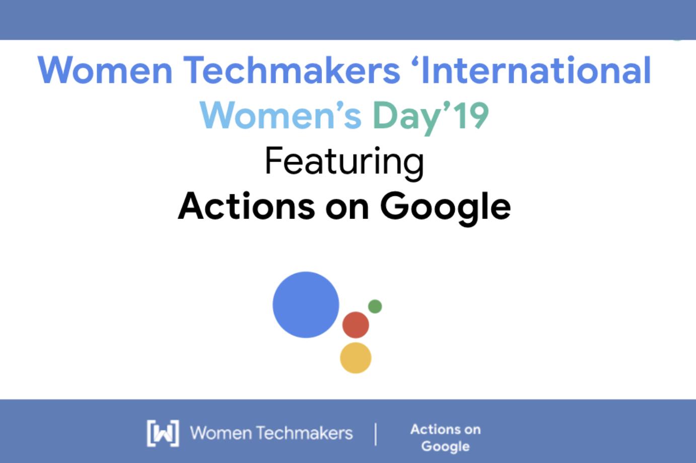 Google Developers Blog: International Women's Day'19