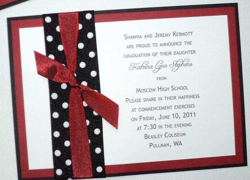 Graduation Invitation - Pullout Tag with Tassel, School Colors - best of invitation wording graduation