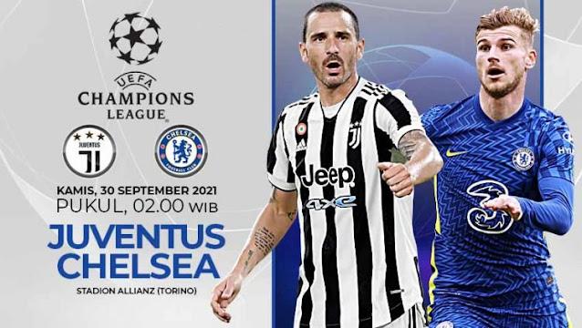 Siaran Ulang dan Cuplikan Goal Juventus vs Chelsea | 30 September 2021