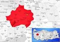 Şaphane ilçesinin nerede olduğunu gösteren harita