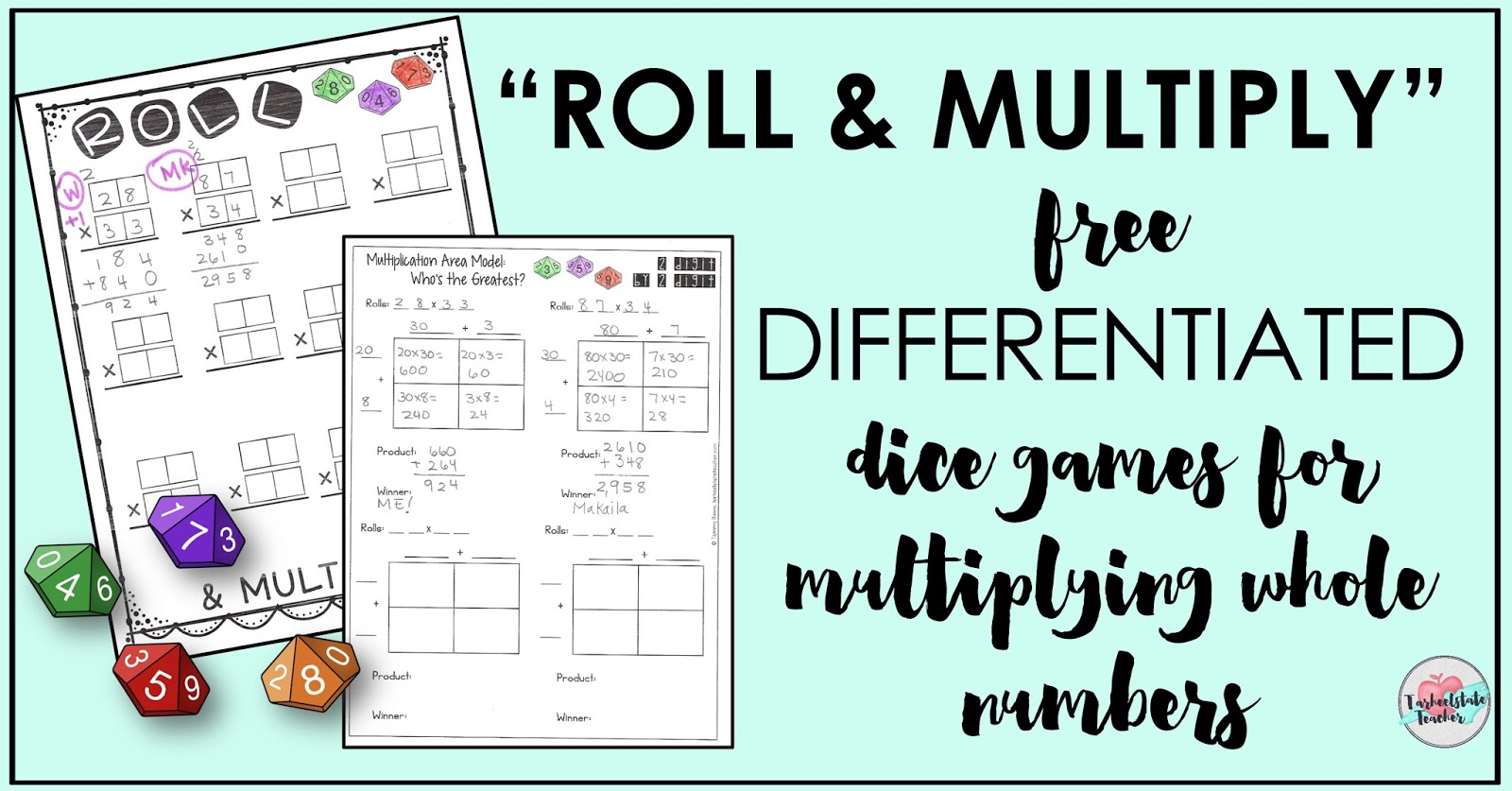 Reflections And Resources From Tarheelstate Teacher Roll And Multiply Free Dice Game For