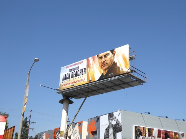 Jack Reacher 2 film billboard
