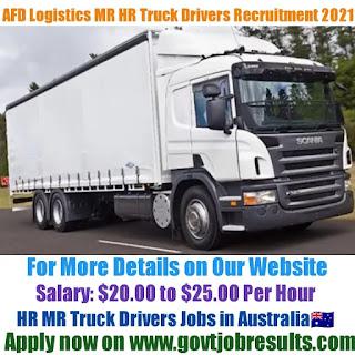 AFD Logistics MR HR Truck Driver Recruitment 2021-22