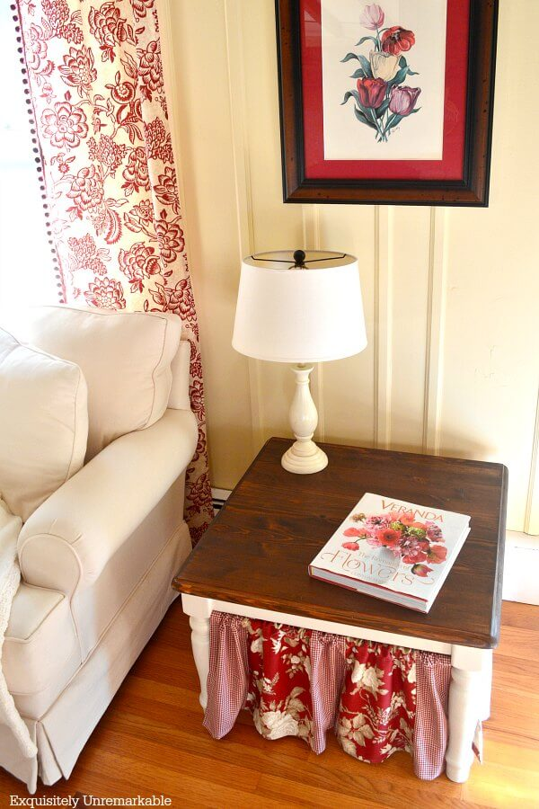 Painted And Stained Side Tables in the living room