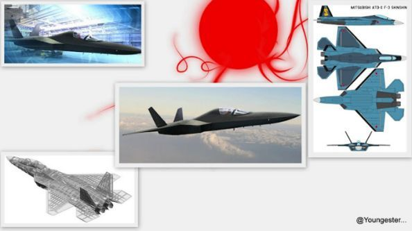 pesawat tempur siluman jepang