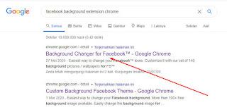 Cara Ganti Background Facebook di chrome