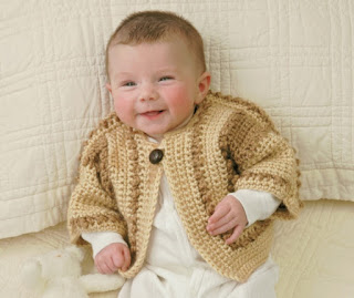 Crochet bobbled sweater pattern for baby