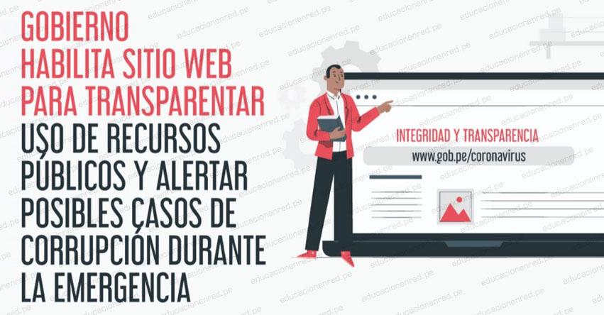 WWW.DENUNCIAS.SERVICIOS.GOB.PE - Gobierno habilita sitio web para transparentar uso de recursos públicos