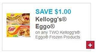 $1.00/2 Kelloggs Eggo Frozen Products (go to www.kelloggsfamilyrewards.com)