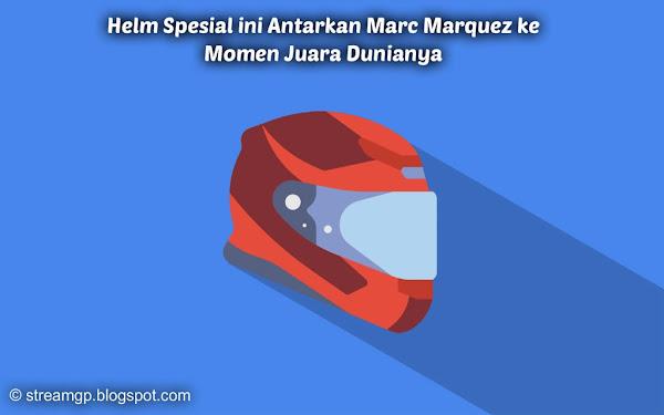 Helm spesial ini antarkan marc marquez ke momen juara dunianya Helm Spesial ini Antarkan Marc Marquez ke Momen Juara Dunianya