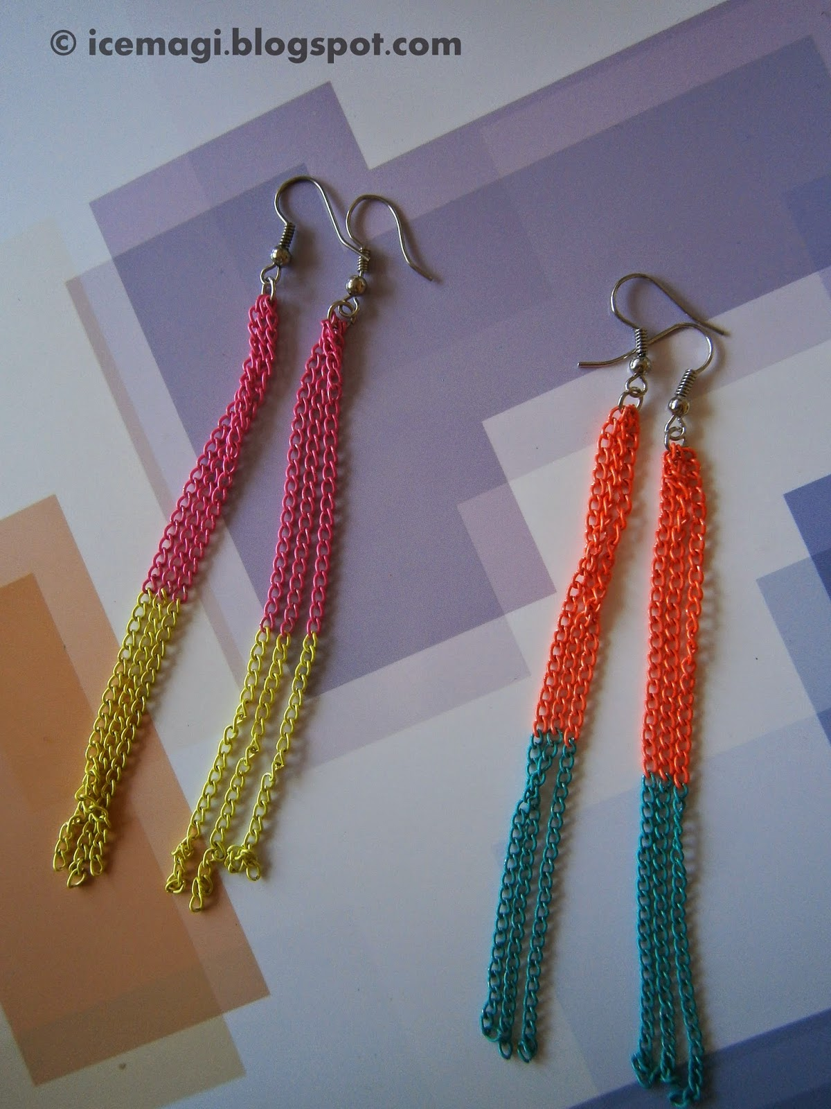 DIY colorful earrings