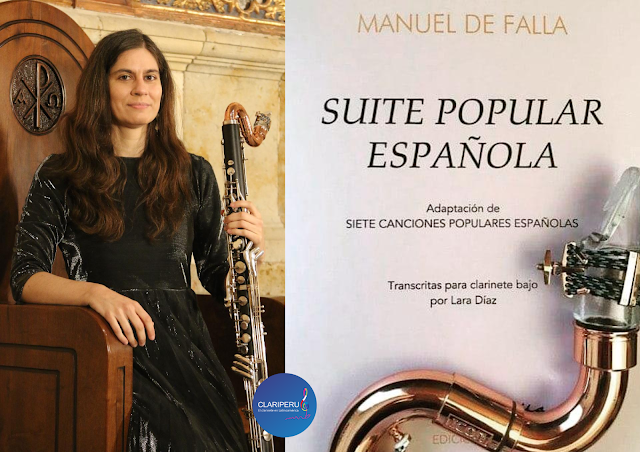 La clarinetista Lara Díaz publica obras de Falla para el clarinete bajo. CLARIPERU. comunidad clariperu