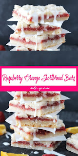 RASPBERRY ORANGE SHORTBREAD BARS