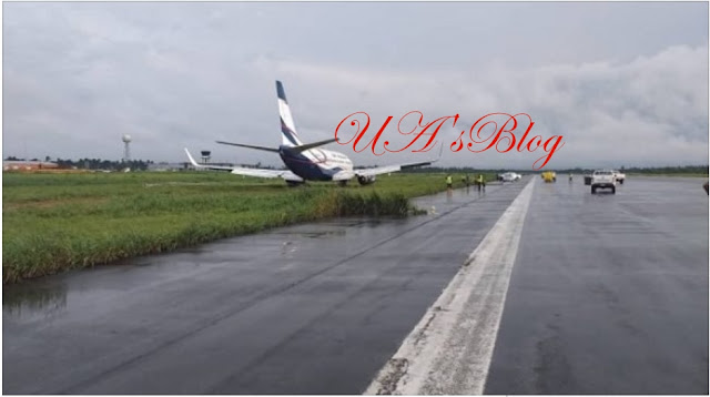 Air Peace plane overshoots runway in Port Harcourt, lands inside the bush
