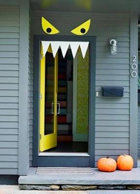 monster front door diy halloween crafts