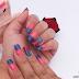 Unhas da Semana - Esponjado Azul e Rosa!