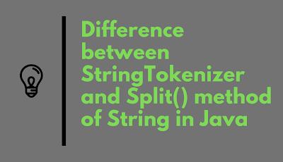 Difference between StringTokenizer and Split method in Java?
