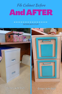 File Cabinet redo before and after