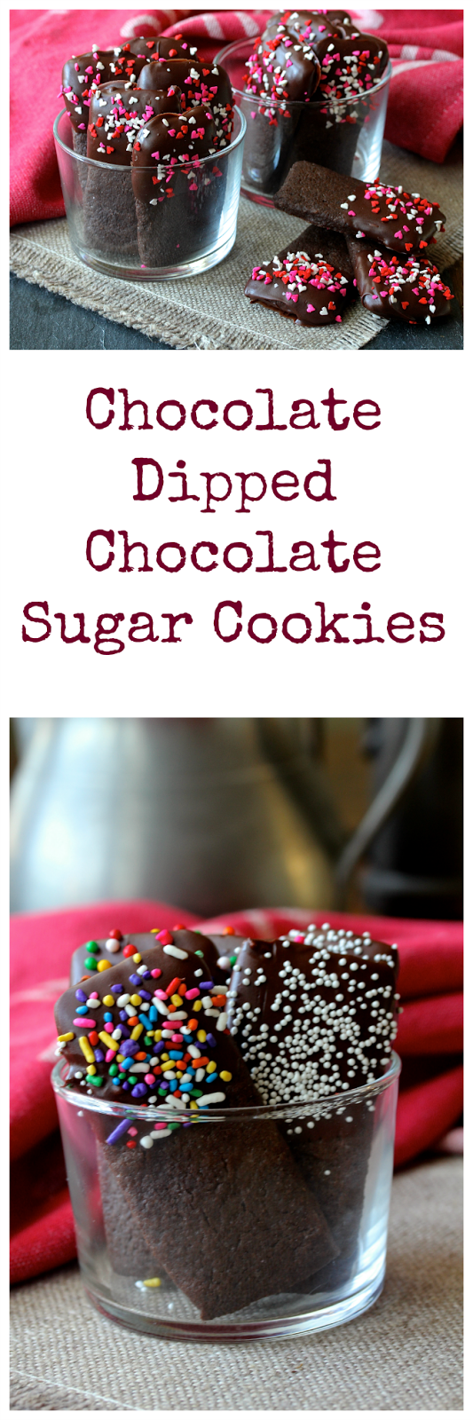 Chocolate Dipped Chocolate Sugar Cookies