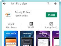 Cara Login Aplikasi Family Pulsa Melalui Google Playstore