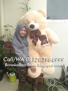 jual boneka teddy bear besar warna cream