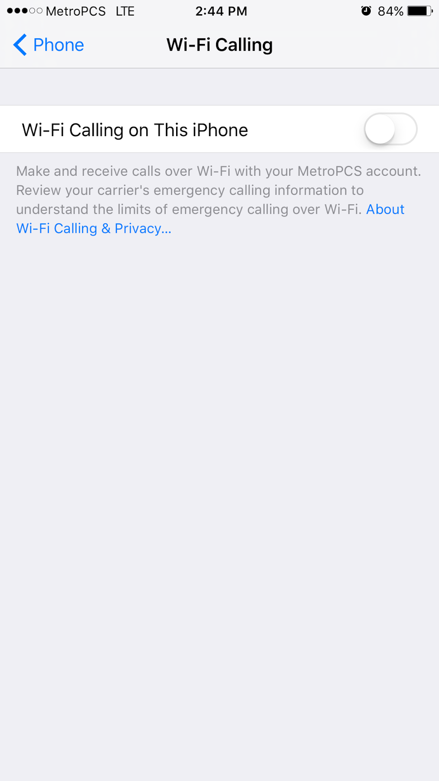 how to enable wi fi calling on iphone metropcs detailizer step 4 toggle wi fi calling on this phone