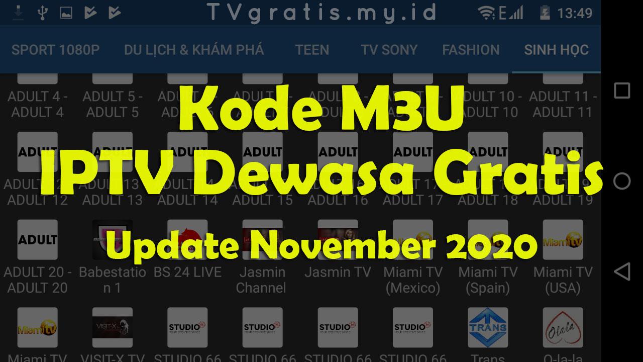 Kode M3U IPTV Dewasa 2020