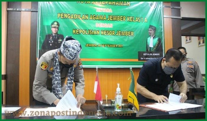 Kerjasama Polres Jember Dengan Pengadilan Agama Untuk Perkuat Sinergitas