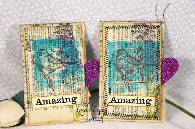 Super Simple Stamped Altered Paperclip