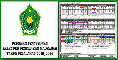 Kalender Pendidikan Madrasah RA, MI, MTs, MA dan MK