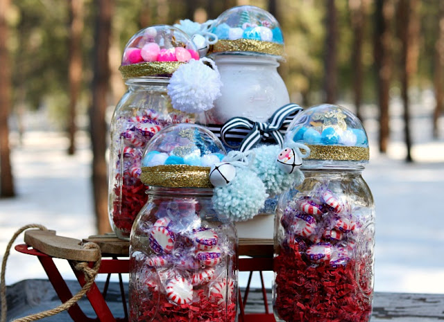 DIY, Crafting, Handmade, Mason, Jars, Candy, Jars
