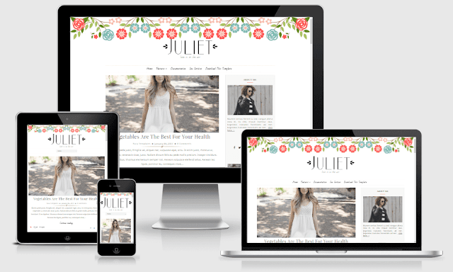 Download Free Juliet   Responsive Minimal Blogger Template for Bloggers