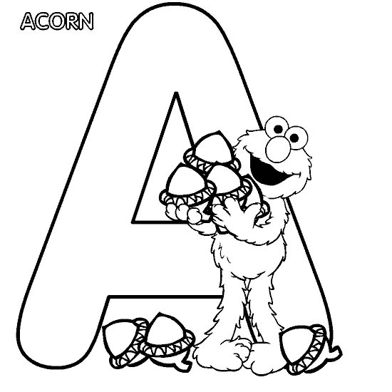 Coloring Pages For Kids Coloring Page Letter A