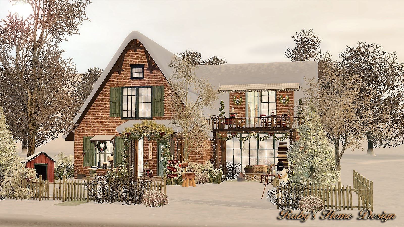 Sims3 Christmas Cottage 聖誕小屋 Ruby S Home Design