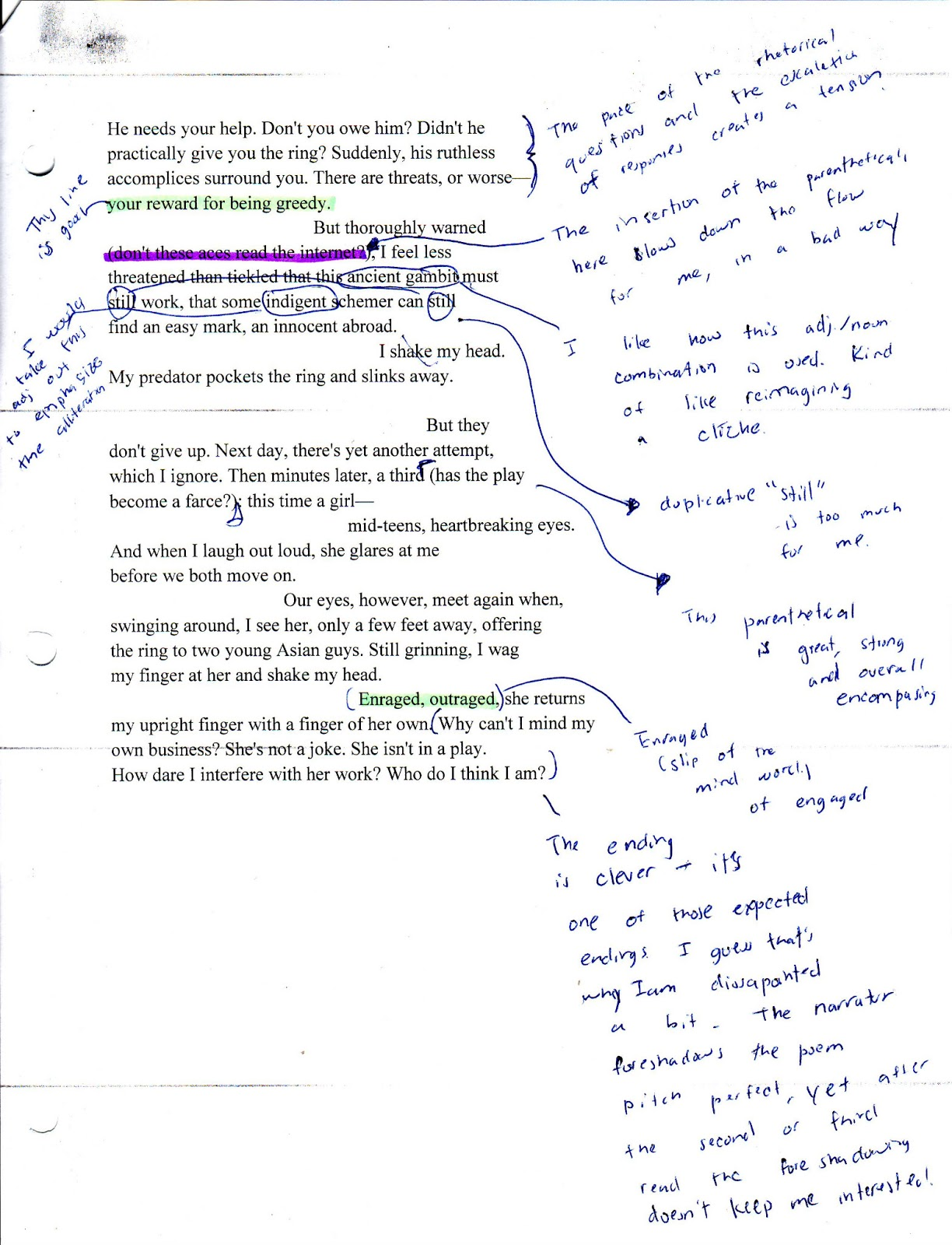 Ysis Of Poems Half Past Two