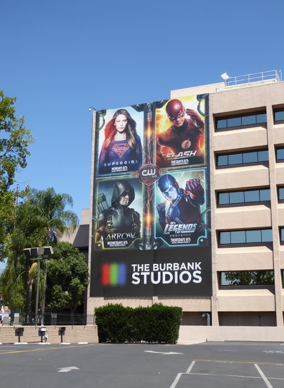 DC Comics TV shows billboard